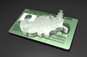 Graphic of permanent resident card