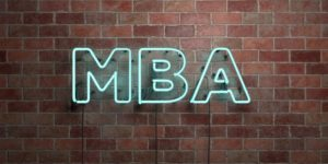 MBA neon sign