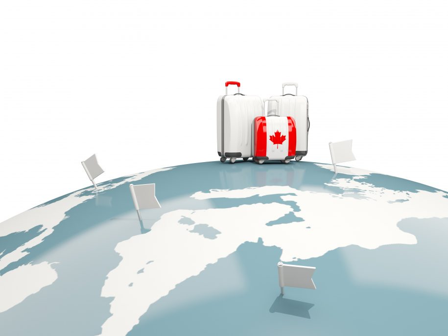 Graphic of Canadian luggage