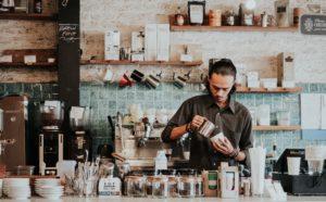 Barista at coffee shop