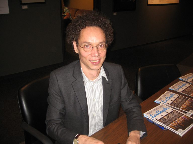 Malcolm Gladwell at table