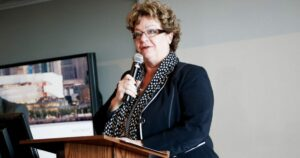 Anne Sado speaking