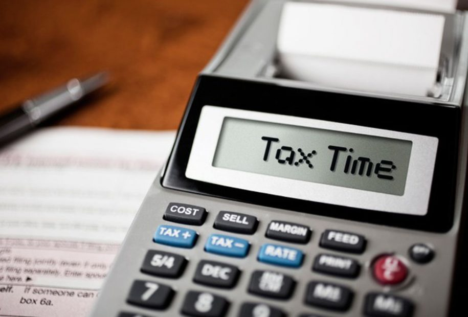 """Calculator that reads, """"Tax Time"""""""
