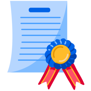 Illustration of test results with ribbon