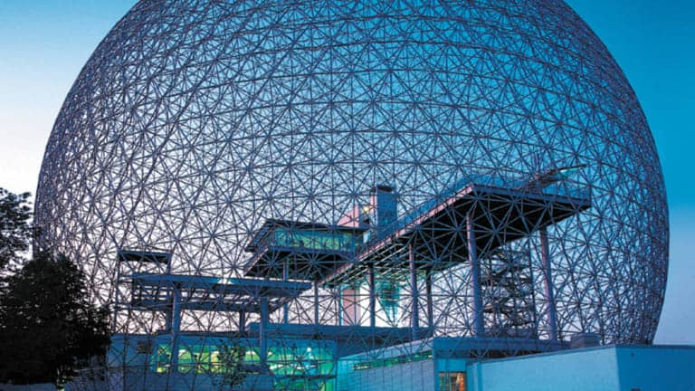 A photo of the Biosphere, Environment Museum in Montreal