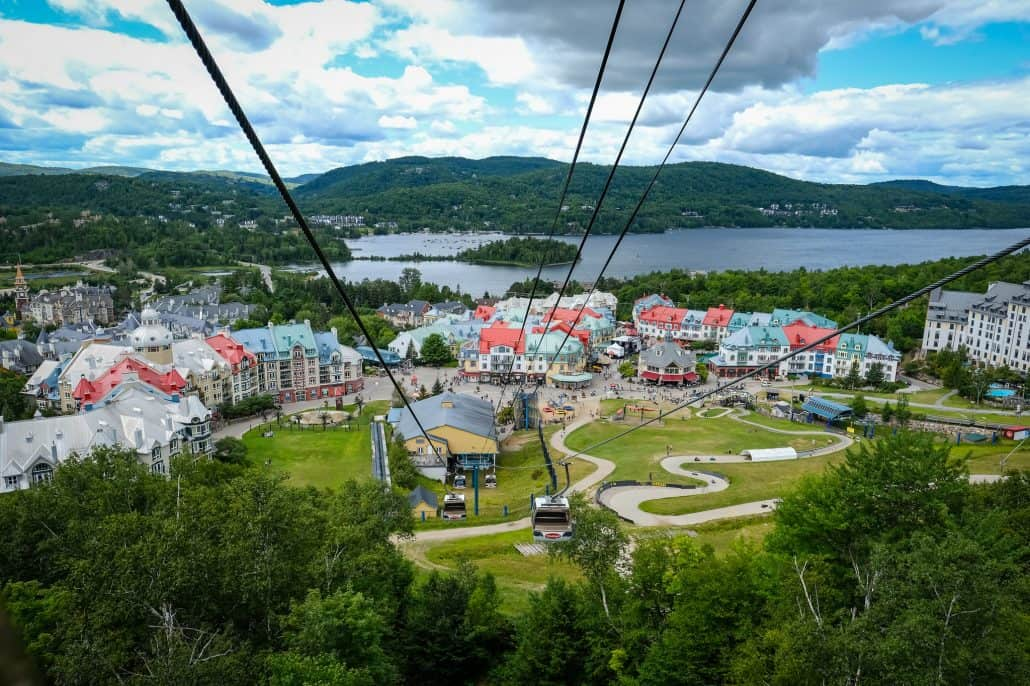 An arial shot of Mont Tremblant's arial landscape.