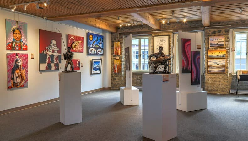 A photo of an art gallery in Quebec.