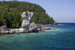 Flowerpot Island at Tobermory, Ontario
