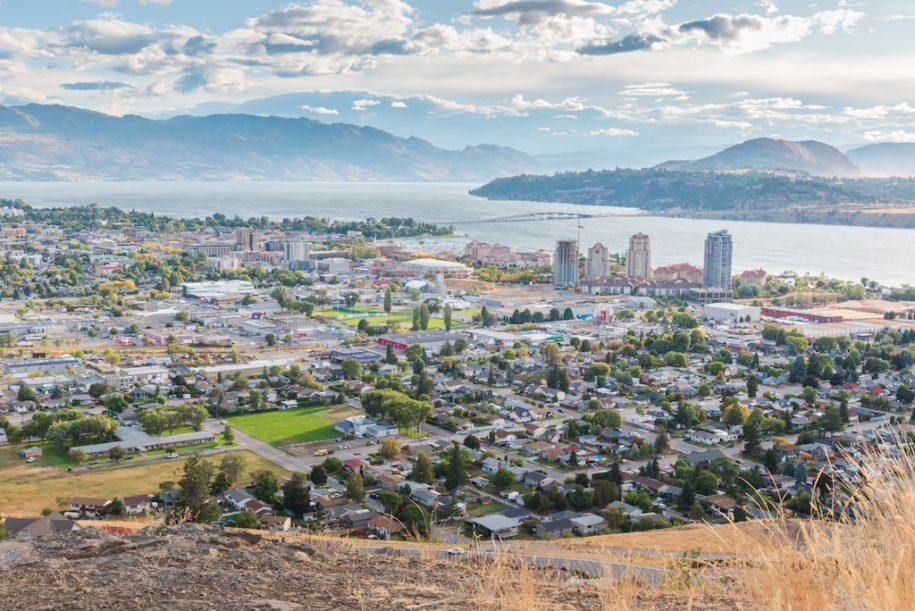 Aerial photo of Kelowna, British Columbia