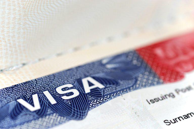 Travel visa document