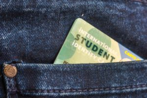 Student ID in pocket