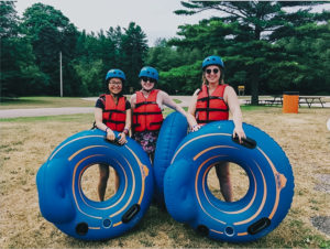 ApplyBoard staff ready to tube down a river