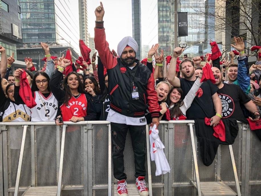 Nav Bhatia and Raptors fans