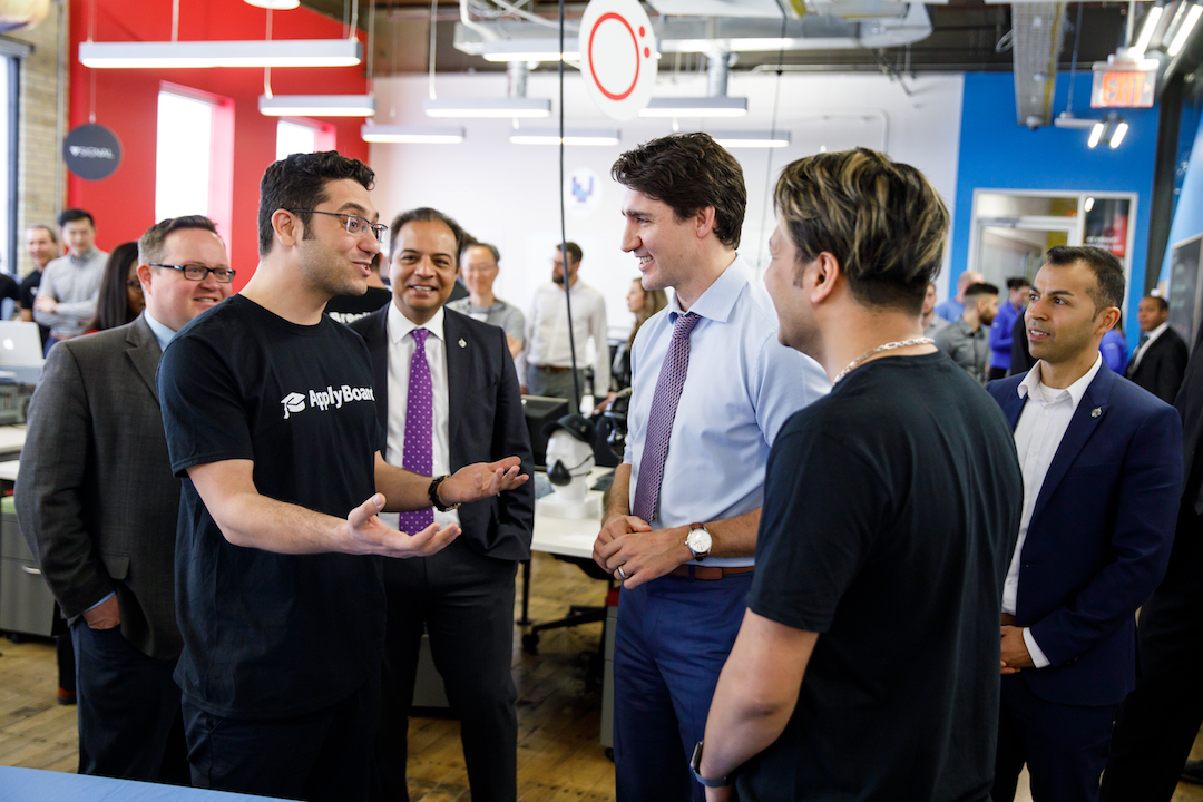Martin and Meti Basiri chat with Justin Trudeau