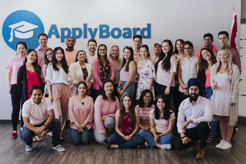 ApplyBoard staff wearing pink clothing