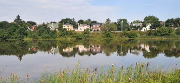 Photo of a lake in Moncton, New Brunswick, Canada