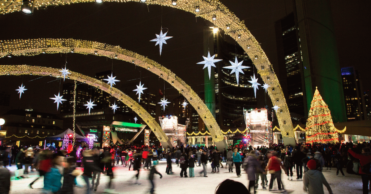 Skating in Nathan Phillips Square