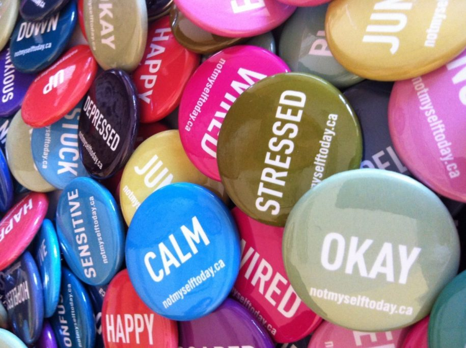 'Not Myself Today' buttons