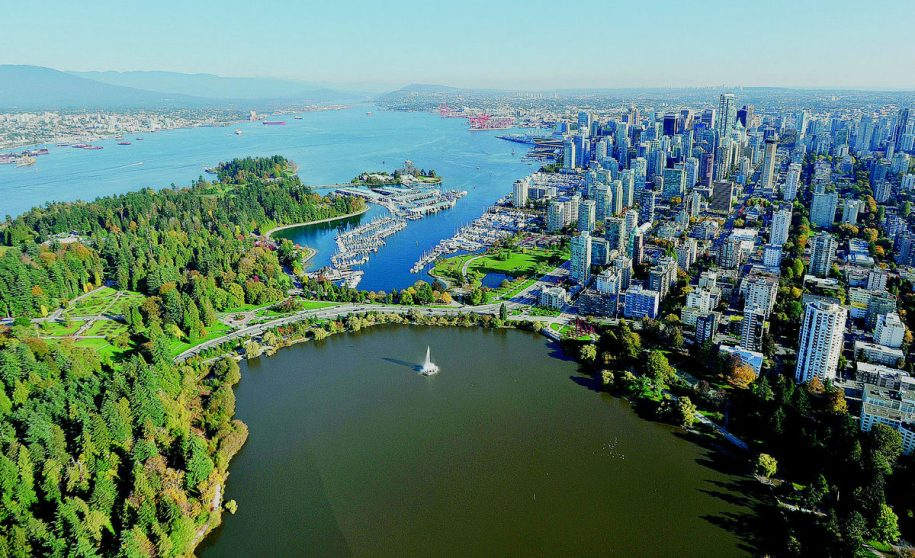 Aerial photo of Vancouver