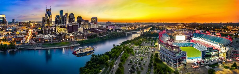 Panorama of Nashville, Tennessee