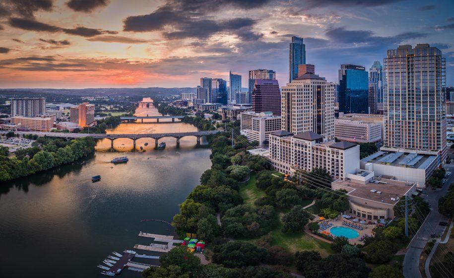 Waco, Texas at sunset