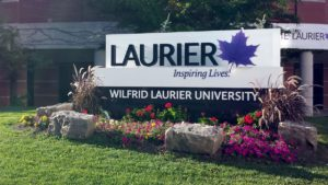 Wilfrid Laurier University sign