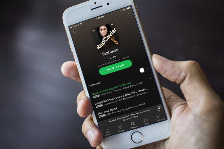 Rap playlist on Spotify