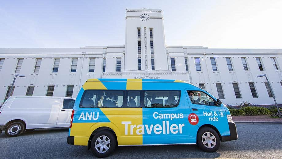 A photo of the Australian National University's campus traveller.