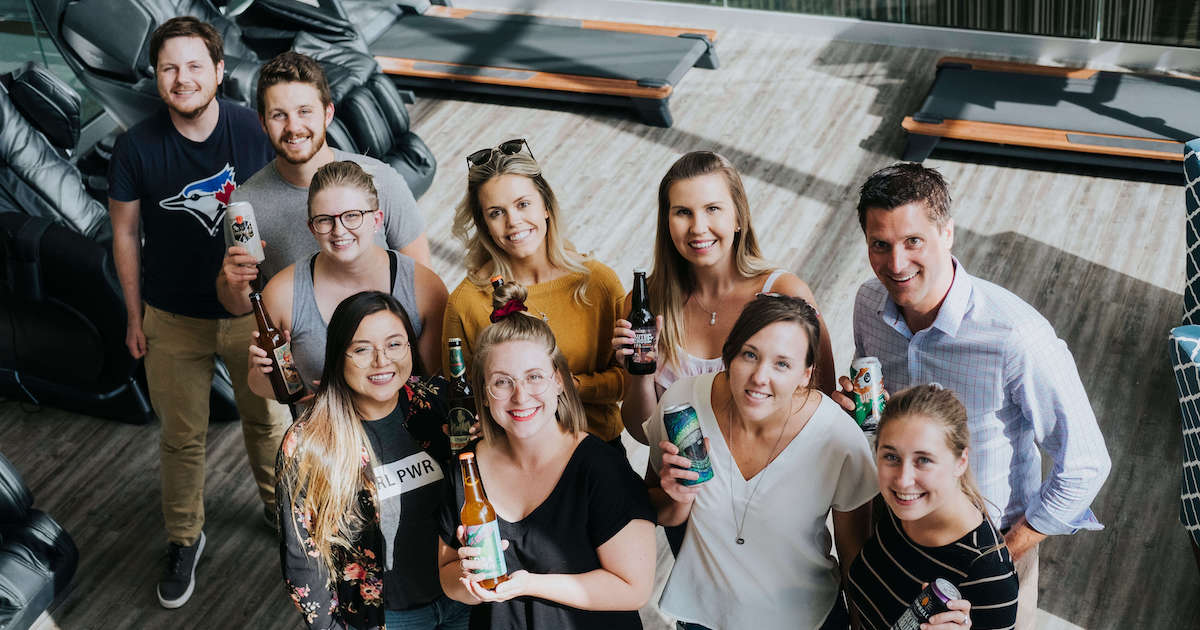 The ApplyBoard Beer Club's famous beer swap