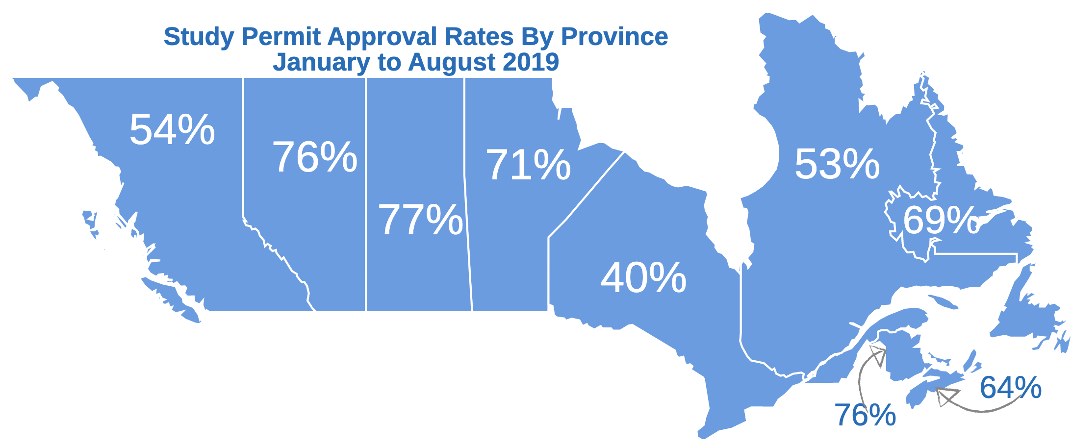 Study Permit Approval Rates By Province Map
