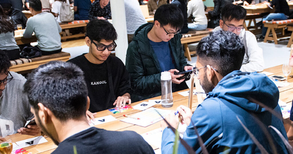 Surrey Students Sitting at Table