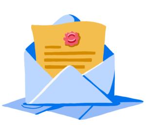 Illustration of letter of acceptance