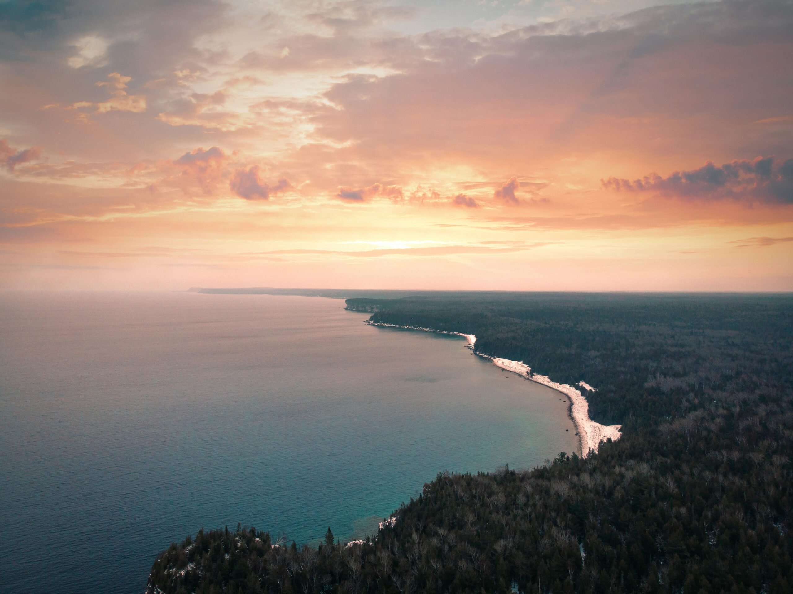 Ontario lake from above