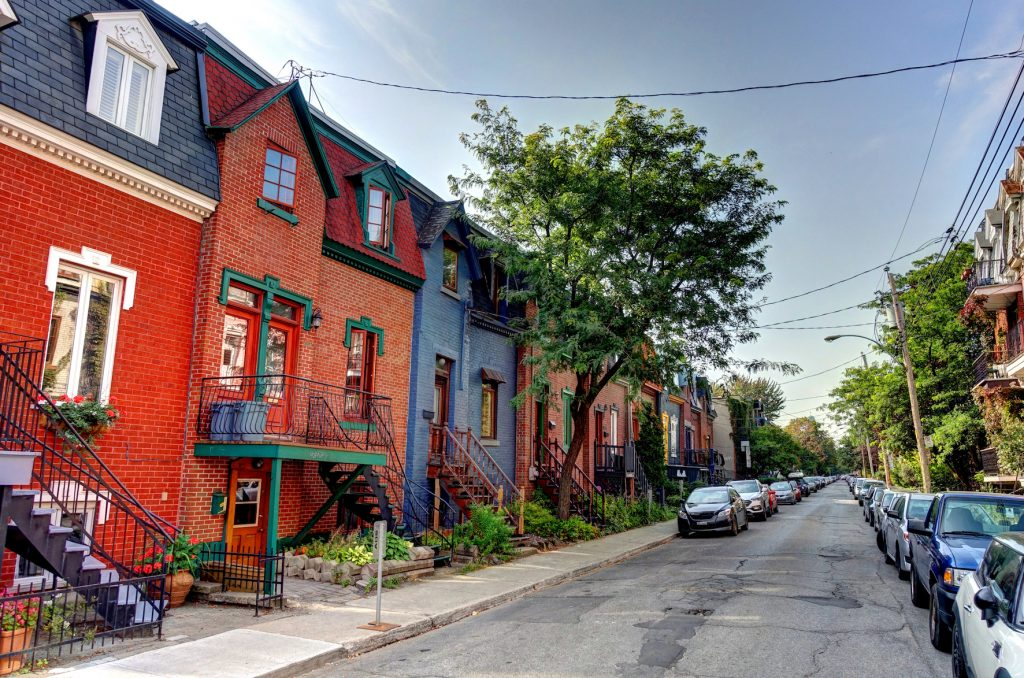 Typical Montreal street