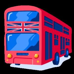 Double decker bus illustration