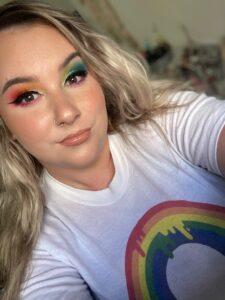 Kristine celebrating Pride Month