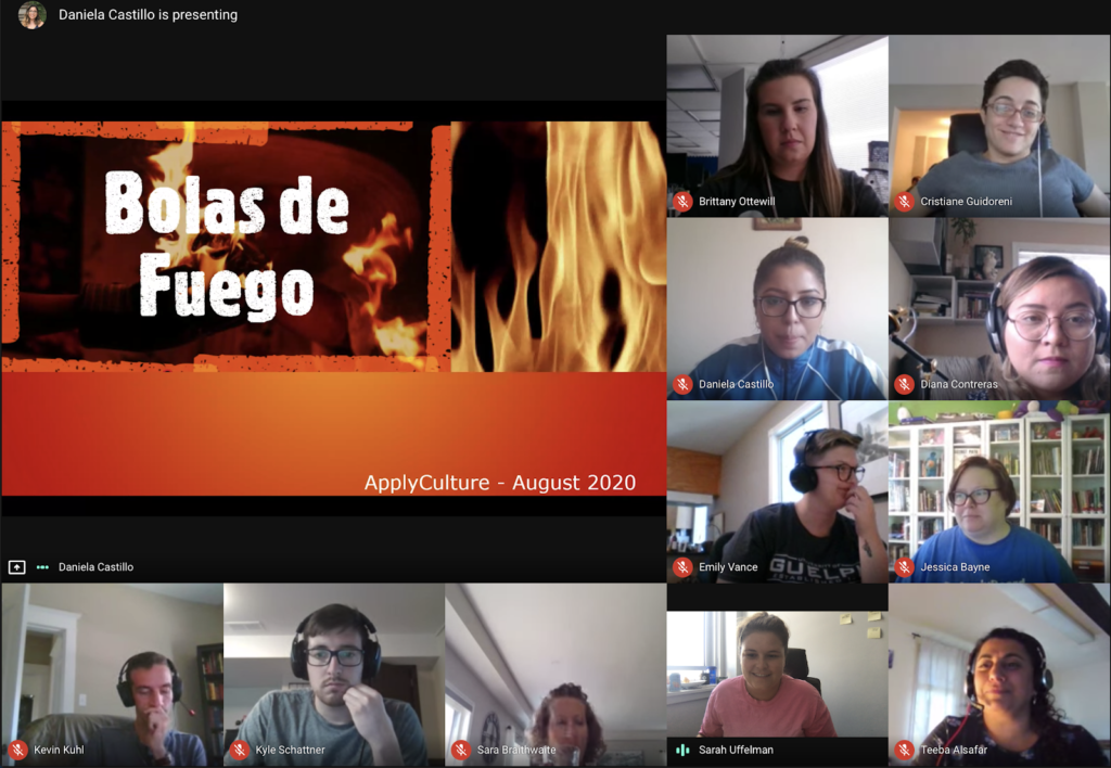 ApplyBoard staff participate in a Lunch and Learn on Bolas de Fuego