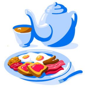 Illustration of English breakfast