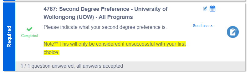 Second Degree Preference