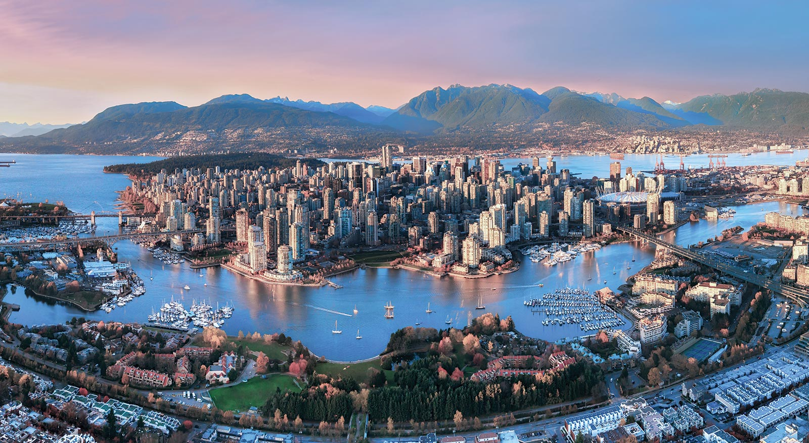 Photo of Vancouver from above