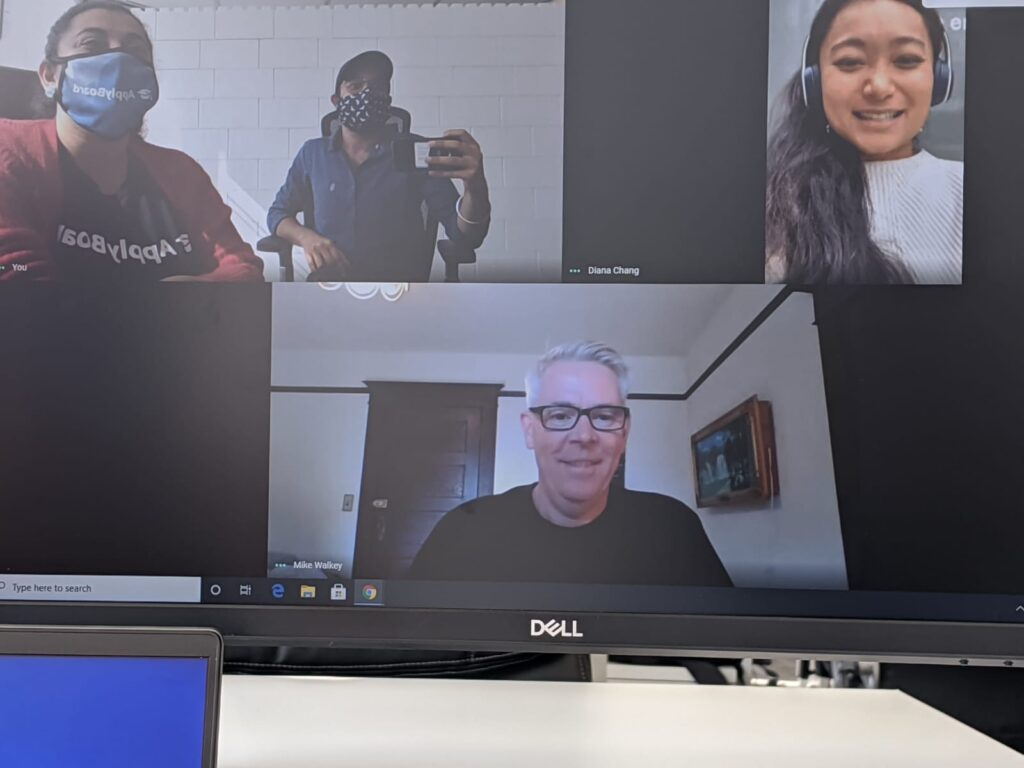 Diana and colleagues on a video call