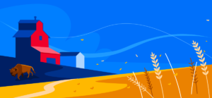 Illustration of Canadian prairies