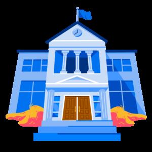 Illustration of school