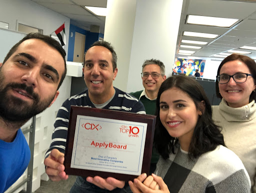 Uri and colleagues celebrate ApplyBoard's CIX Top 10 Growth award
