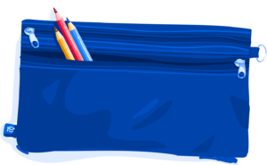 Illustration of pencil case