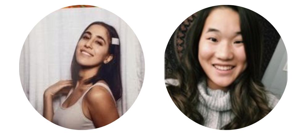 Headshots of ApplyBoard team members Tav and Kira