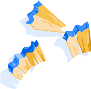 Illustration of pencil shavings