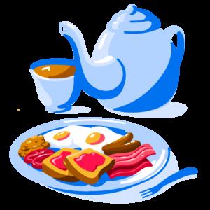 Illustration of full English breakfast