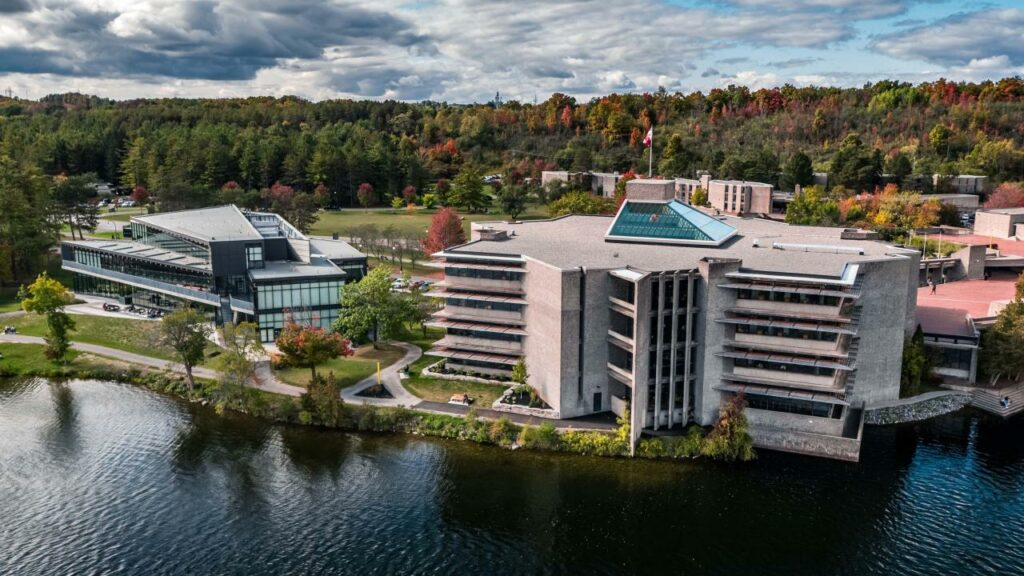 Trent University campus from above