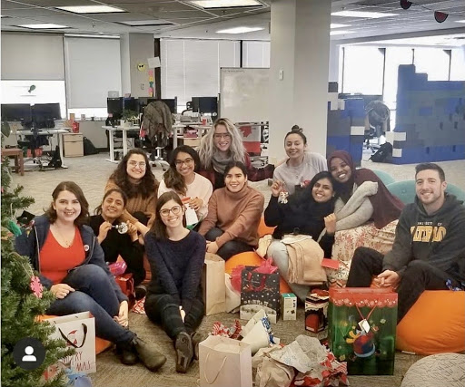 ApplyBoard teammates during holiday gift exchange